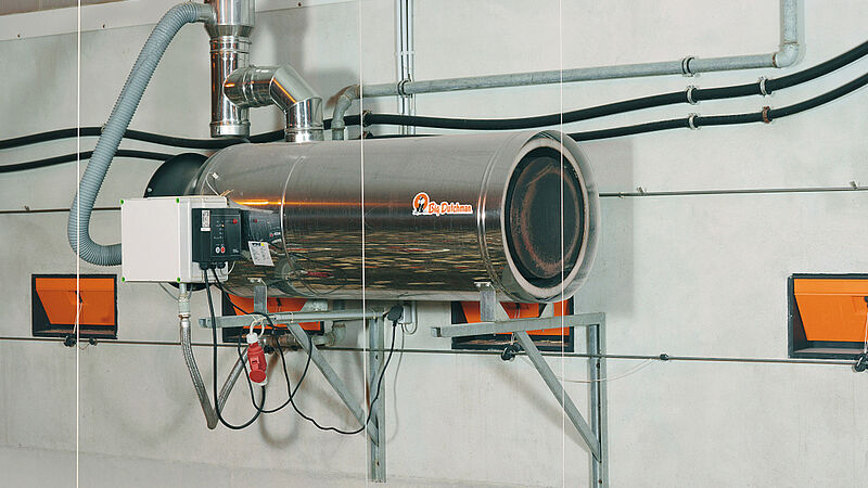 ฮีทเตอร์ RGA100 ควบคุมอุณหภูมิในโรงเรือนสัตว์ปีกด้วยพลังงานที่ใช้อย่างประหยัด