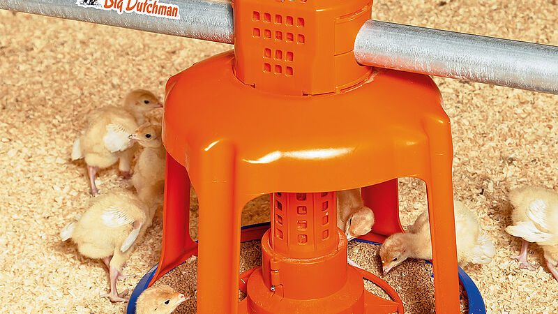 Gladiator feed pan สำหรับการผลิตไก่งวง
