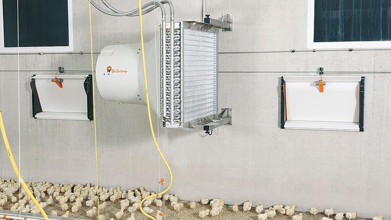 ฮีทมาสเตอร์: ระบบทำความร้อนเพื่อสร้างอุณหภูมิที่เหมาะสมภายในโรงเรือนสัตว์ปีก